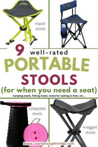 portable stools including camping stools, tripod stools and more