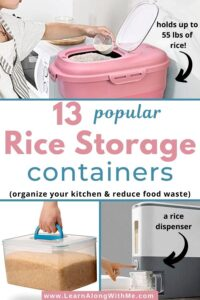 rice storage containers - 13 popular options