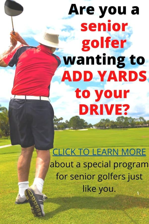 Seniors golfers can add yards to their drive with this specially designed program.